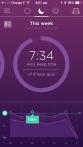 Weekly analysis of the sleep