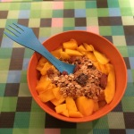 Mango and granola