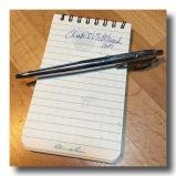 waterproof notebook & spacepen