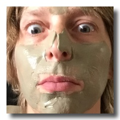 facial with green clay